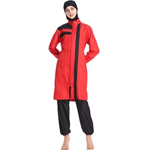 Heligen Muslimische Bademode Islamische Vollbedeckung Frauen kurze Ärmel bescheiden Badeanzug Burkini Lady Rashguard Surfanzug Kostüm 3XL 2 - Jazz Kostüm Designs