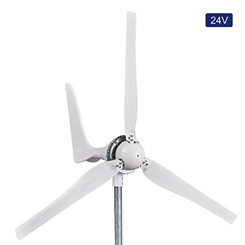 Automaxx Mulino a Vento 1200 W 24 V 42 A Kit generatore turbina eolica Regolatore di Carica MPPT Incluso (Amp, Volt & Watt) + Sistema frenante Automatico e Manuale. Installazione Fai da Te.