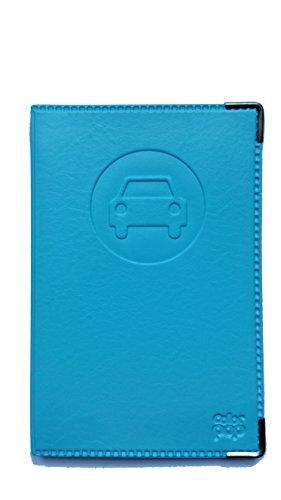 Colorpop Portadocumentos, diseño de coche, piel sintética, color azul