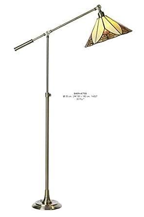 Casa Padrino Tiffany Lampe Lampe Lampadaire Hauteur 130–180cm Orientable, diamètre 35cm