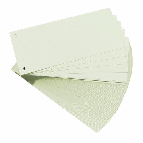 Herlitz 10843654 Trennstreifen, 100-er Packung, Weiß -