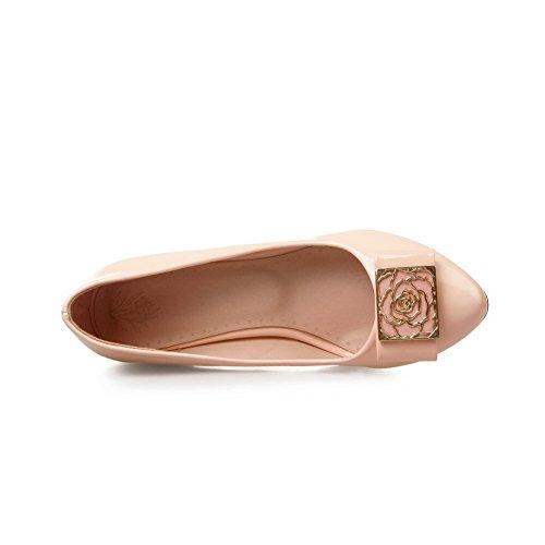BalaMasa donna, Slip-On-Rivestimento Imitated pompe-Scarpe in pelle Pink