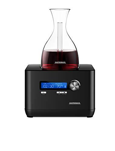 Gastroback 47000 Home Sommelier, Weindekantierer, Dekanter, 55, Kunststoff, schwarz (Sommelier Dekanter)