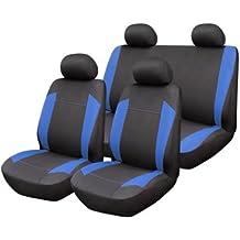 Start - Juego de fundas para asientos de coche Omega, azul y gris, universales