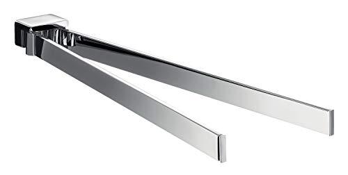 Emco Loft Handtuchhalter chrom, Handtuchstange 2-armig, schwenkbar, zur Wandmontage, Länge 410 mm  - 55000141 -