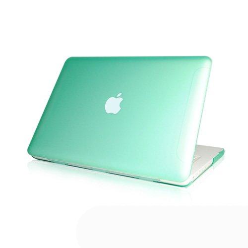 Generic - Carcasa rígida de goma translúcida de 13' para Apple MacBook blanco 13,3' (modelo A1342), color verde