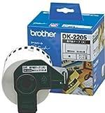 """Brother DK2205 Blanc DK - étiquettes à imprimer (Blanc, DK, 2-3/7"""" x 100 ft)..."""