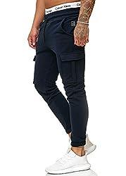 OneRedox Herren Jogging Hose Jogger Streetwear Sporthose Modell 1213 Navy M