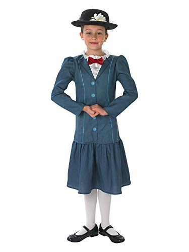 Mary Poppins Childrens Fancy Dress Kostüm - Rubies offizielles 1960er Jahre Mary Poppins