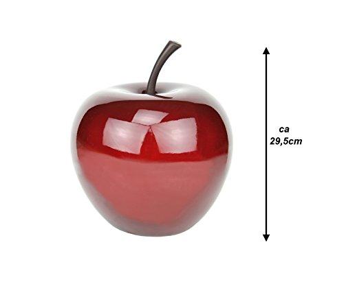 Handgefertigter Deko-Apfel in Rot aus robustem Fiberglas, Größe S - Pottery Pots