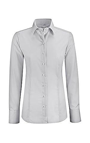Greiff Damen-Bluse PREMIUM Regular Fit, 6670, Farbe: Silber-Grau, Größe: 38