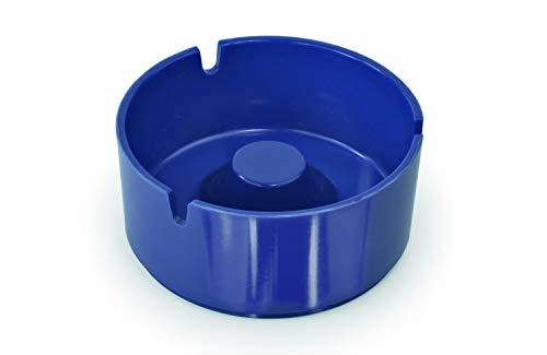 Aschenbecher Kunststoff Blau 10,2 cm Durchm. - 3 Stück -