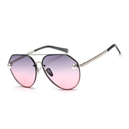 Kjwsbb Pearl Pilot Sonnenbrille Damen Vintage Design Orange Braun Verlaufsglas Sonnenbrille Für Damen RetroMetal
