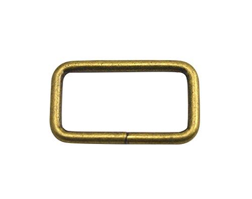 wuuycoky Bronze Rechteck Ringe Loop Ring keine geschweißt für Gurtband Gürtel Schnalle, Inner length:1.5