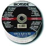 Ironside 241425 Disque à tronçonner pour métal 124 x 2,5 mm