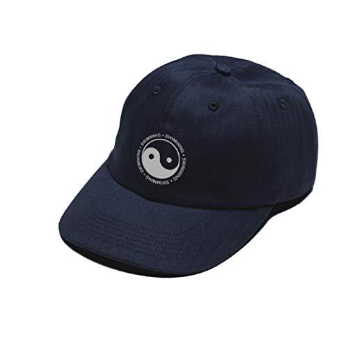 Mac Miller Dad Hut Aus 100% Baumwolle Stickerei Klatsch Yin Und Yang Schwimmen Hut Hysteresen Baseballmütze Männer Und Frauen Dropship (Color : Navy Blue, Size : One Size)