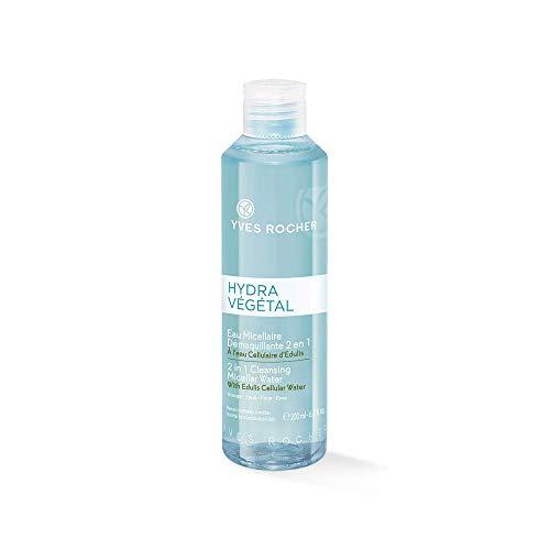 Yves Rocher HYDRA VÉGÉTAL Eau Micellaire 2in1 Reinigung, Gesichtswasser-Kombination für Gesicht & Augen, 1 x Flacon 200 ml