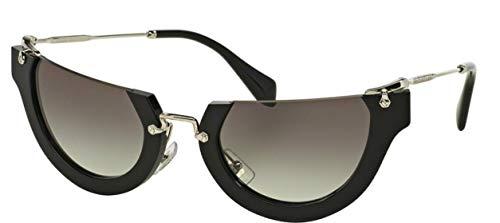Miu Miu Unisex Wink MU11QS Sonnenbrille, Schwarz (Black 1AB0A7), One size (Herstellergröße: 52)
