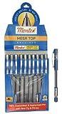 #10: montex mega top ball pen pack of 10 pens (BLACK)