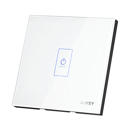 AUKEY Interruptor de Pared Táctil Interruptor de Luz Panel de Cristal Luz...