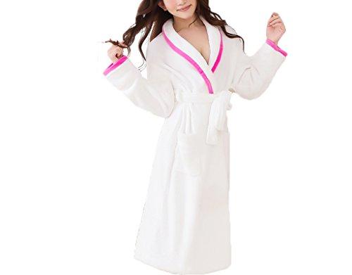 Stagione autunnale e invernale camicia da notte sexy delle donne di ispessimento Tenere accappatoi lungo caldo pigiama stile Tuta accappatoi C