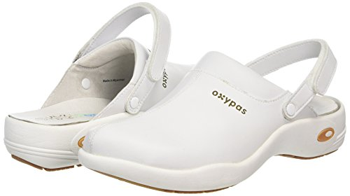 Oxypas Unisex-Adult Ultralight 'Heidi' Comfortable and Practical Nursing Clogs, White (002 White), 8 UK (42 EU) Weiß (002 White)