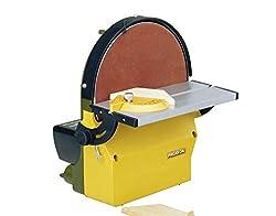 Proxxon Tellerschleifgerät TG 250/E (Gehäuse aus Alu-Druckguss, Schleifteller plangedreht, für Weichholz, Kunststoff, NE-Metall usw, mit Absaugstutzen) 28060