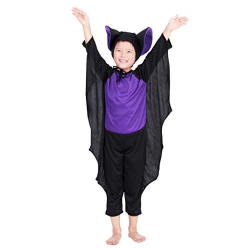 (Uus Halloween Kostüm, verbunden Bat Suit Set Cosplay Kostüm Requisiten (Höhe 90-100cm))
