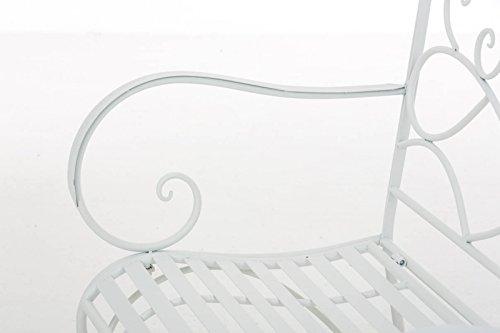 Gartenbank Felicita aus Eisen l Landhausstil l Metall weiß - 4