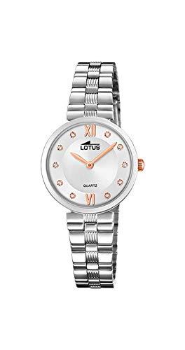 Lotus Reloj Analógico para Mujer de Cuarzo con Correa en Acero Inoxidable 18541/3