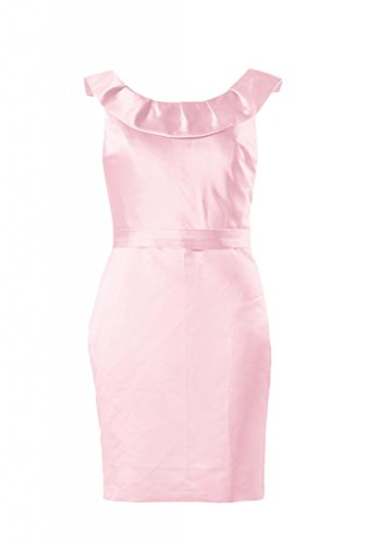 daisyformals encolure courte robe de demoiselle dhonneur en satin vintage robe de soirée (bm253) Rose - #20-Ice Pink