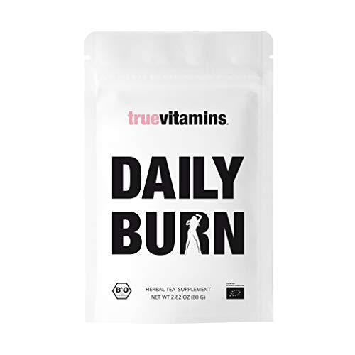 DAILY BURN Bio-Tee by truevitamins. Der perfekte Begleiter bei einer vierwöchigen Detox, Diät, Fasten- und Reinigungskur. Hergestellt in Deutschland.