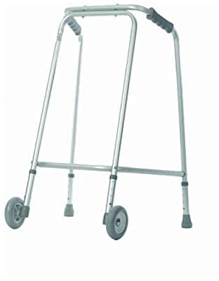 Aidapt Light Weight Wheeled Walking Frame for Home Use (Eligible for VAT relief in the UK)