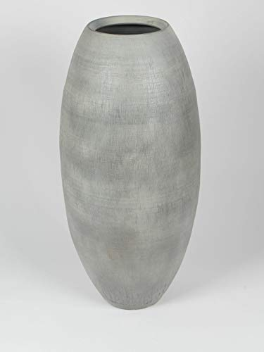 Silamo Bodenvase, grau-matt, Terracotta, 90 cm