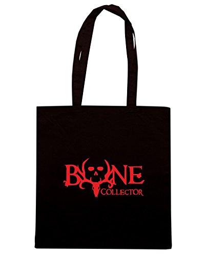 T-Shirtshock - Borsa Shopping FUN0835 bone collector 1 26009 Nero