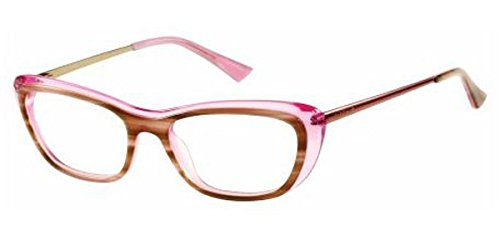 Guess by Marciano - GM0229, Schmetterling, Acetat, Damenbrillen, LIGHT BROWN TRANSPARENT PINK(E90...