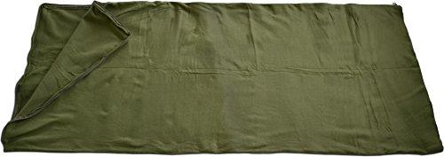 Httenschlafsack-Fleece-fr-warme-Sommernchte-190-cm-x-75-cm-Farbe-Oliv