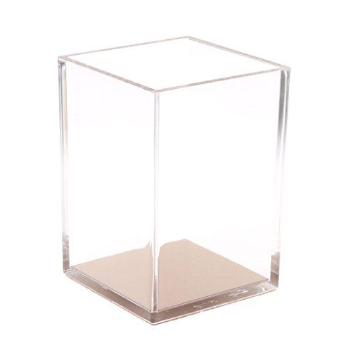 Schreibtisch-Organisator-Transparenz-Bleistift-Kasten-Feder-Behälter-Rose Gold Cup -