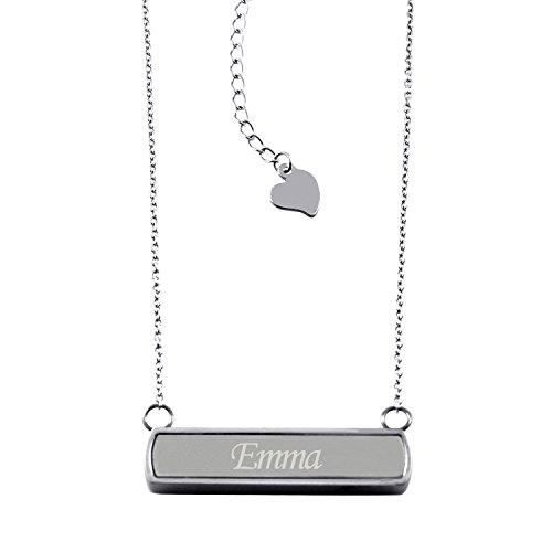 acero-inoxidable-grabado-con-laser-nombre-personalizado-barra-horizontal-encanto-collar-pendiente
