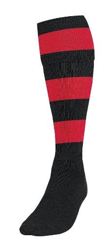Pt Hooped Football Socks Boys Black red