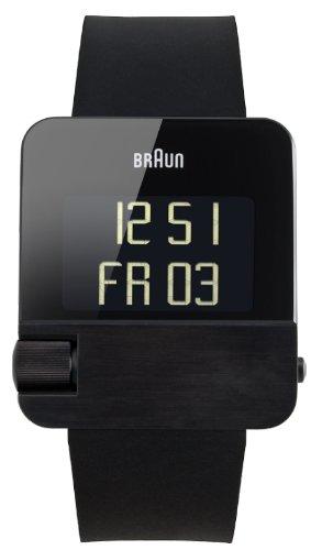 Braun - 66534 - Montre Mixte - Quartz - Analogique - Chronomètre - Horaire fuseau - Eclairage -Temps intermédiaires - Bracelet Caoutchouc Noir