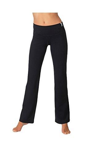 Pantaloni sportivi per donna pantaloni da jogging pantaloni Fitness e tempo libero Pantaloni lunghi da ideale, estremamente morbido ed elastico con Stretch in nero di Gwinner, nero, L