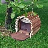 Mangeoire à écureuil en bois avec plate-forme de fil de suspension pour nourriture prêt à l'emploi n'importe quelle Taille de jardin