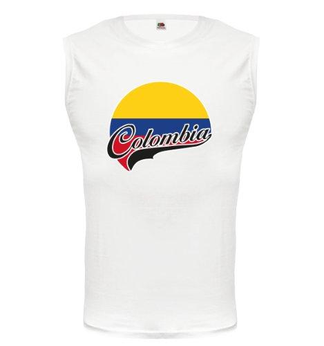 buXsbaum® Tank Top Kolumbien-Logo White-z-direct