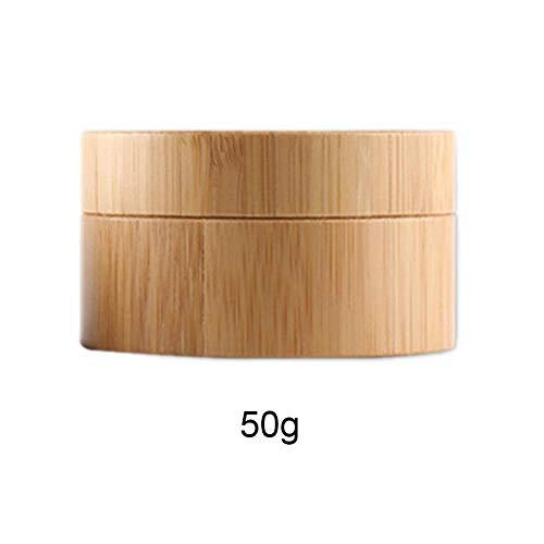 Cosmetic Container Travel Pot, Glas-Set Bambus Make-up Nachfüllmaske Augencreme Verpackung, Reisekosmetik Flaschen Leeres Glas Cosmetic Container Hautpflegecreme Flaschen 30g / 50g -