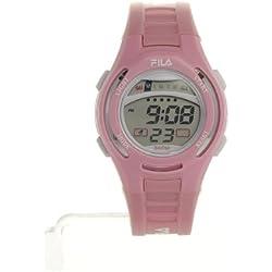Fila Kids LCD Watch with FL38800102 Pink PU Strap