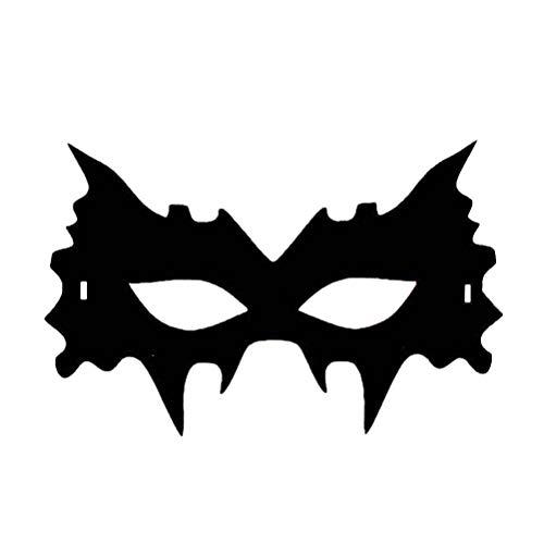 BESTOYARD Schwarz Masken Eyemask Halloween Tanzparty Maske Halloween Cosplay Maske für Frauen Männer (Schwarz)