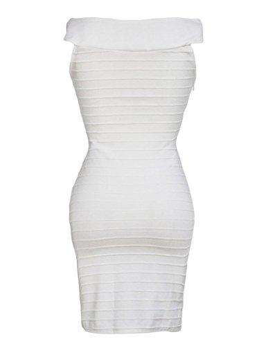 Dissa® FOB21979 femme moulante Robe de soirée Blanc