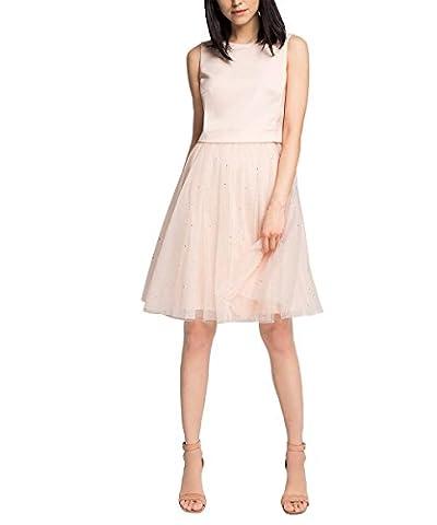 ESPRIT Collection Damen A-Linie Kleid blickdicht durch Unterrock, Knielang, Gr. 40, Rosa (LIGHT PINK 690)