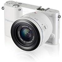 Samsung NX1100 Systemkamera (20,3 Megapixel, 7,6 cm (3 Zoll) LCD-Display, Aufsteckblitz, HDMI, WiFi, USB 2.0) inkl. 20-50 mm i-Function Objektiv weiß